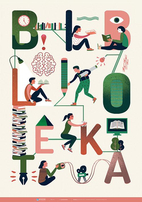 Plakat: Biblioteka!