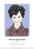 Wisława Szymborska – karykatura