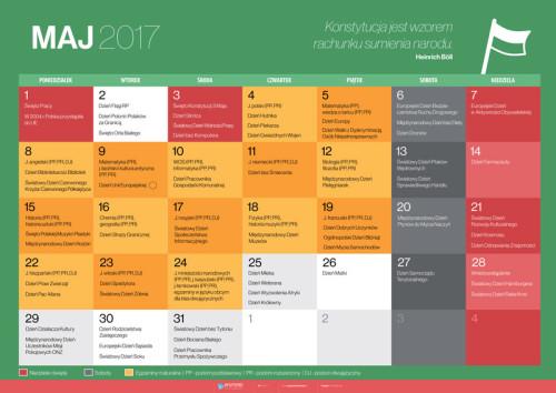 Kalendarz na maj 2017