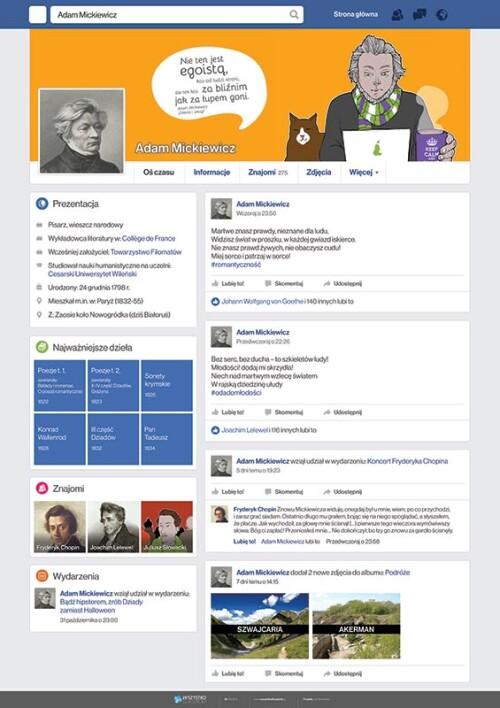 Adam Mickiewicz na facebooku