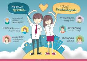 Dzień Nauczyciela - życzenia od uczniów (złożony)