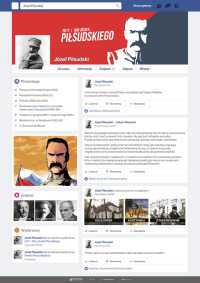 Piłsudski na Facebooku