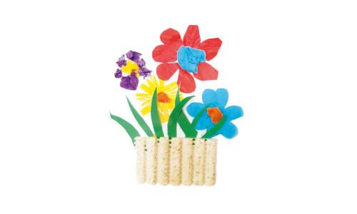 Kwiaty z kawałka maty