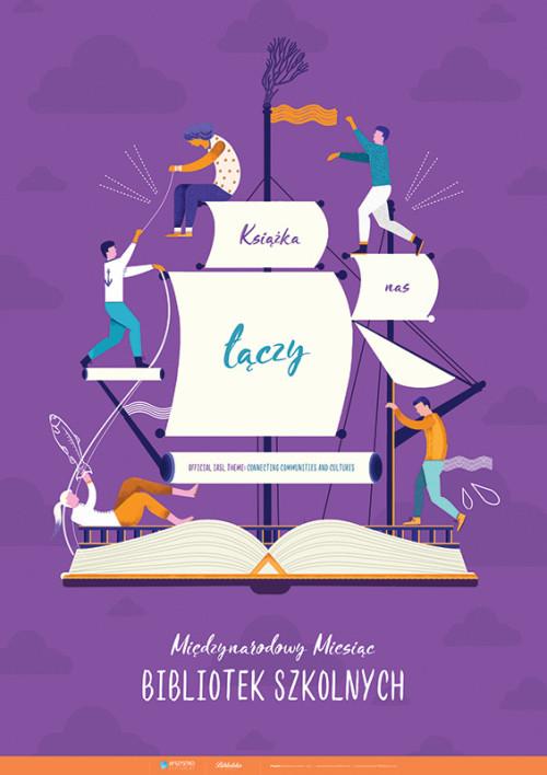 Plakat: Książka nas łączy