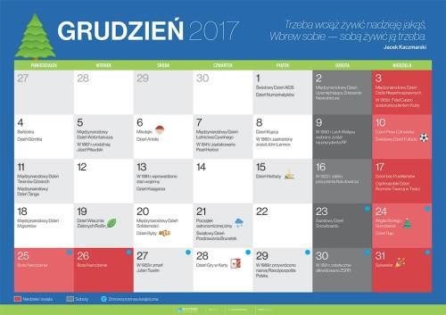 Kalendarz na grudzień 2017