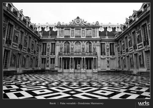 Pałac wersalski - Dziedziniec Marmurowy