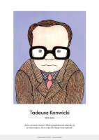 Tadeusz Konwicki – karykatura