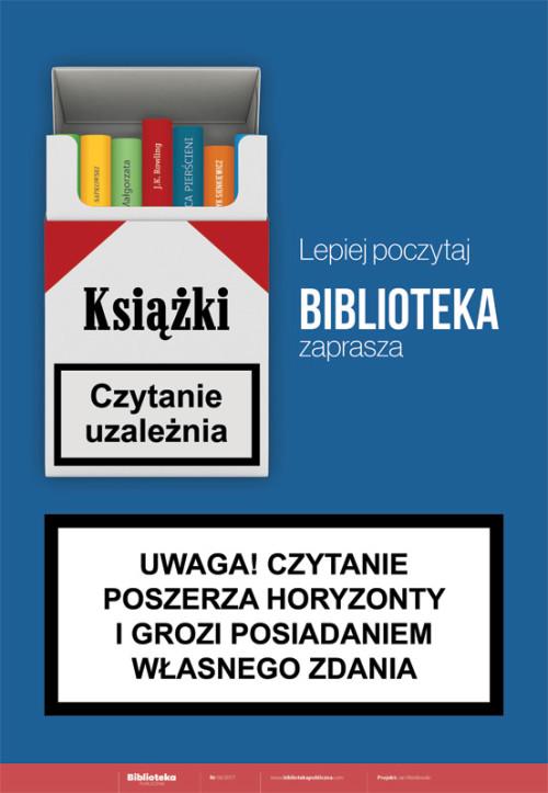 Plakat: Lepiej poczytaj, biblioteka zaprasza