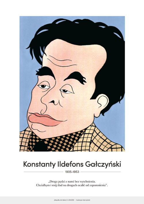 Konstanty Ildefons Gałczyński – karykatura