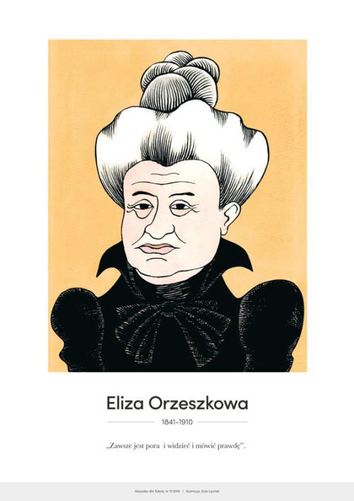 Eliza Orzeszkowa – karykatura