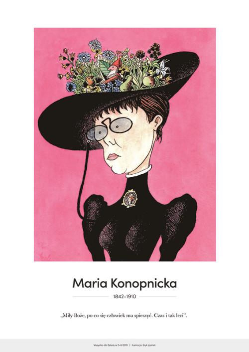 Maria Konopnicka – karykatura