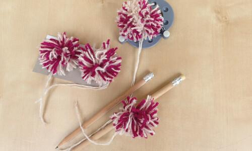 Jesienne kwiaty z włóczki