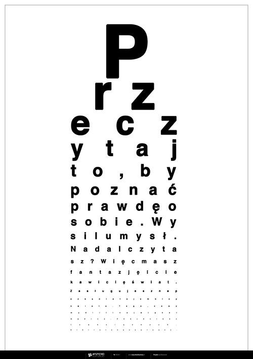 Plakat: Przeczytaj to, by poznać prawdę