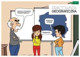 Pracownia geograficzna - Plakat na drzwi