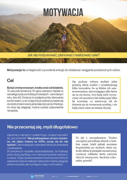 Motywacja - Jak się motywować, planować i realizować cele?