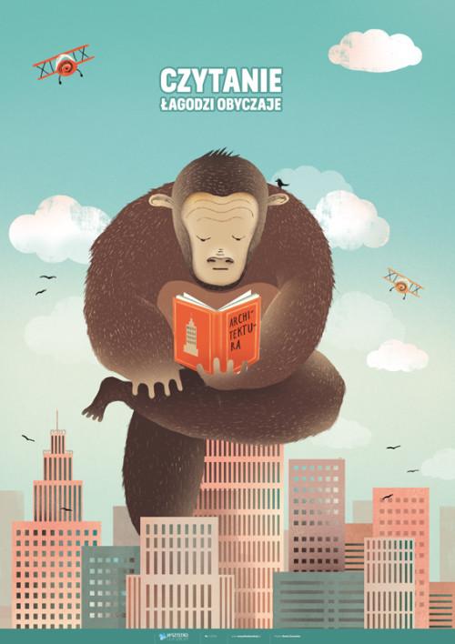 King Kong w bibliotece – czytanie łagodzi obyczaje