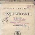 Przedwiośnie Stefana Żeromskiego. Konkurs czytelniczy