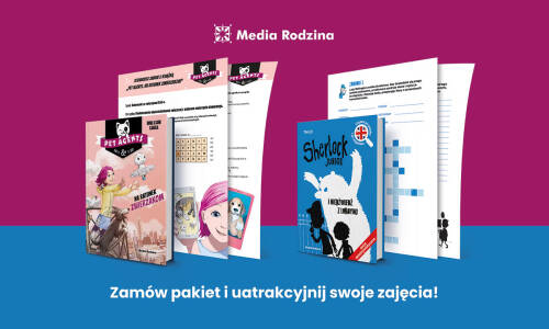 Nauka i zabawa z bohaterami książek wydawnictwa Media Rodzina