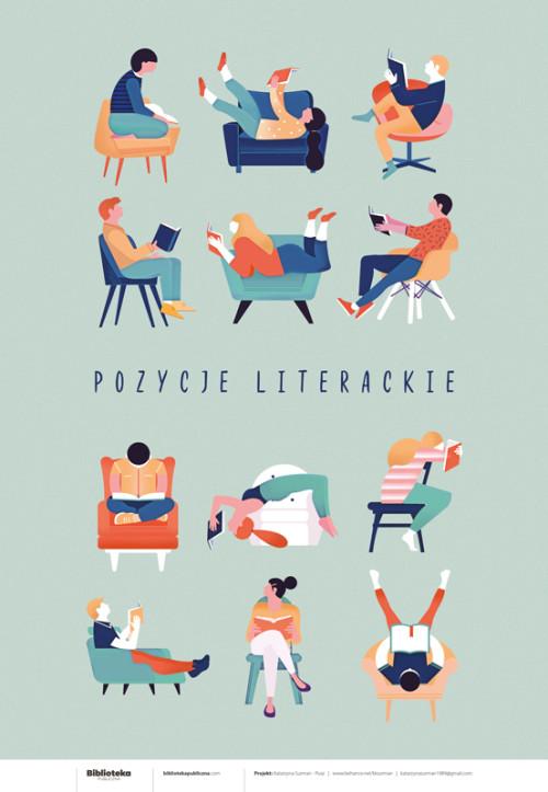 Plakat: Pozycje literackie