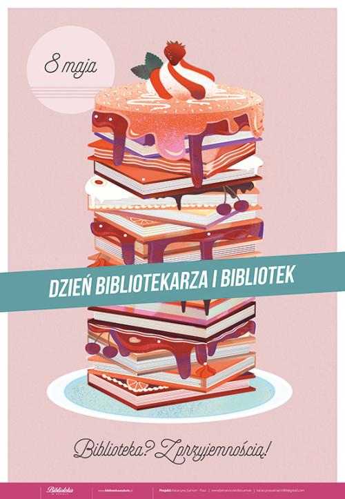 Plakat: 8 maja – Dzień bibliotekarza i bibliotek