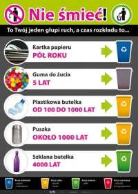 Nie śmieć! Ekologia, segregacja śmieci (złożony)