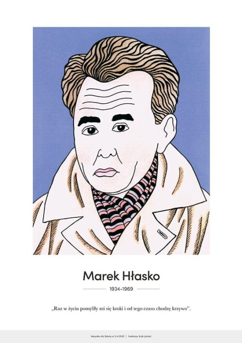 Marek Hłasko – karykatura