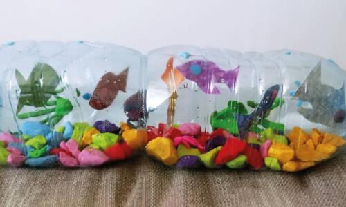 Akwarium z butelki