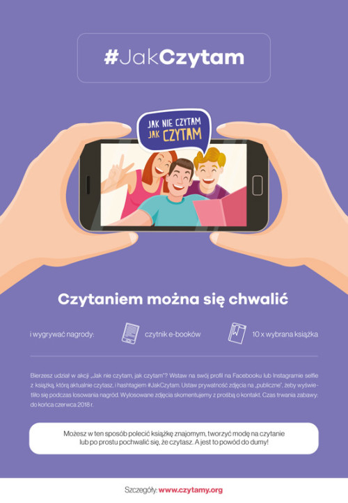 Plakat: Czytaniem można się chwalić