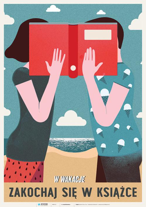 Plakat: W wakacje zakochaj się w książce
