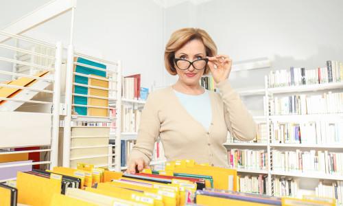 Stereotyp bibliotekarki