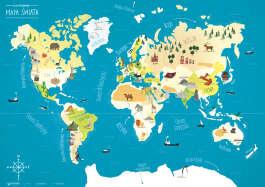 Ilustrowana mapa świata