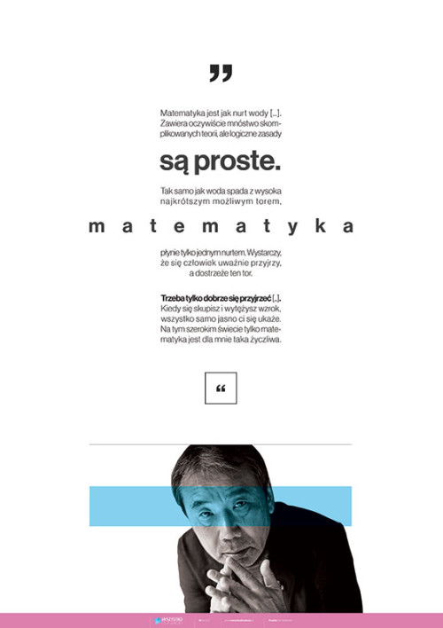 Matematyka jest jak nurt wody – Haruki Murakami