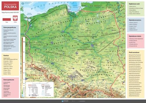Mapa fizyczna Polski