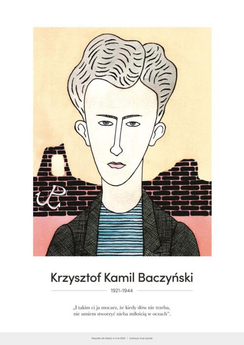 Krzysztof Kamil Baczyński – karykatura