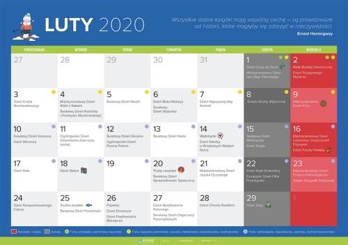 Kalendarz na luty 2020