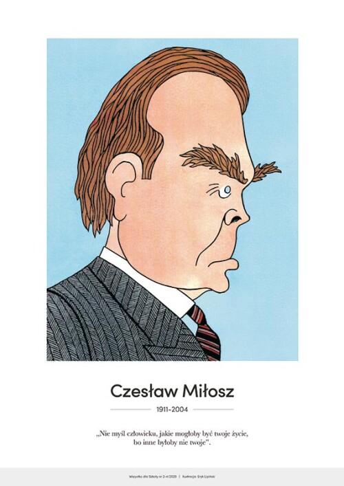 Czesław Miłosz – karykatura