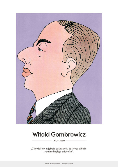 Witold Gombrowicz – karykatura