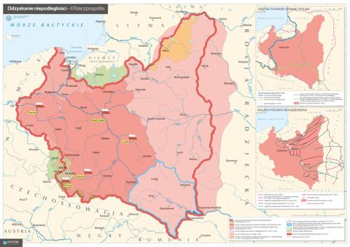 Mapa – odzyskanie niepodległości