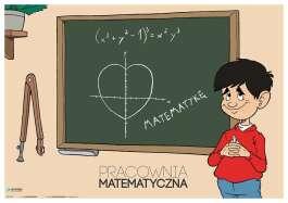 Pracownia matematyczna - Plakat na drzwi (złożony)