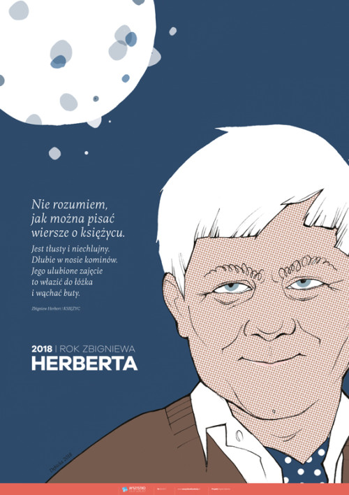 Plakat: 2018 – Rok Zbigniewa Herberta