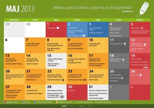Kalendarz na maj 2013