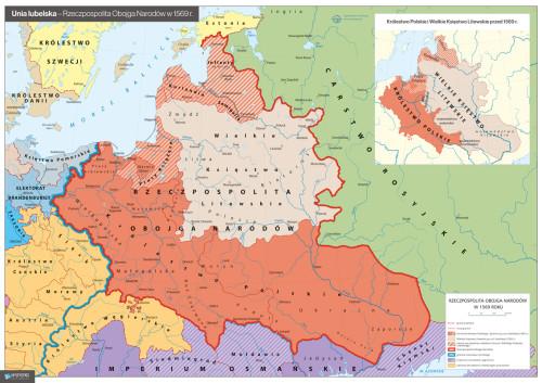 2019 – Rok Unii Lubelskiej – mapa