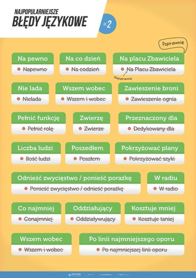 Błędy językowe - cz. 2