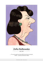 Zofia Nałkowska – karykatura