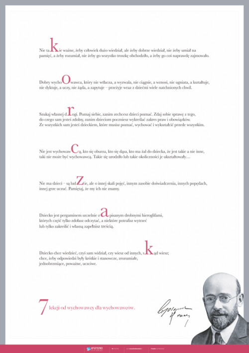 Janusz Korczak – lekcje od nauczyciela dla nauczycieli