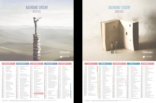 Kalendarz biblioteki na rok szkolny 2021/2022