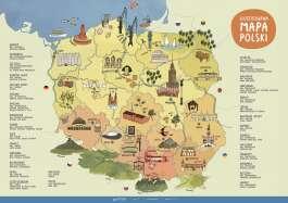 Ilustrowana mapa Polski