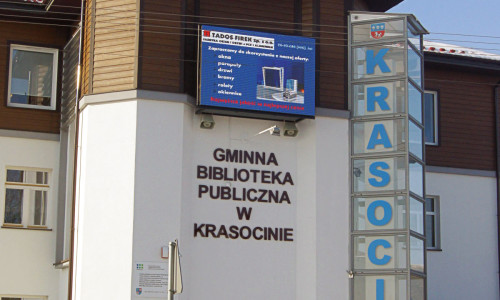 Reklama i promocja biblioteki na telebimie