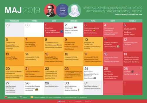 Kalendarz na maj 2019