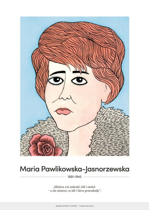 Maria Pawlikowska-Jasnorzewska – karykatura